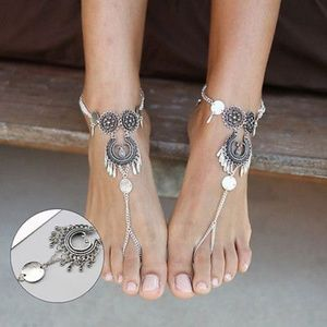 Jewelry - Pair of Bali Boho Silver Barefoot Sandal Anklets